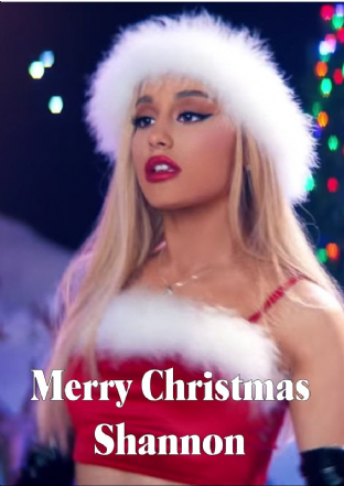 Personalised Ariana Grande Christmas Card Design 1